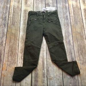 Zara Girls Olive Green Skinny Jeans Size 6